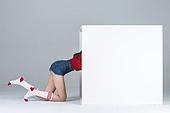 한국인, 여성, 상자, 기어가기 (물리적활동), 기어가기