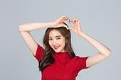 사진, 한국인, 여성, 하트, 사랑 (컨셉)