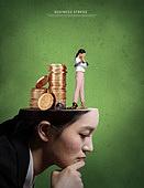 그래픽이미지, 비즈니스, 화이트칼라 (전문직), 고통, 스트레스 (컨셉), 절망, 얼굴 (사람머리), 여성, 비즈니스우먼