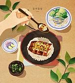 밥, 보양식, 여름, 사람손 (주요신체부분), 전통음식, 장어덮밥, 민물뱀장어 (민물고기)