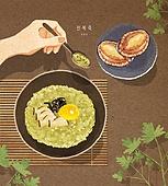 밥, 보양식, 여름, 사람손 (주요신체부분), 전통음식, 전복, 전복죽, 숟가락