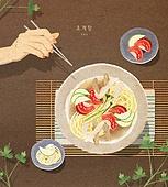 밥, 보양식, 여름, 사람손 (주요신체부분), 전통음식, 초계국수 (국수)