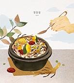 밥, 보양식, 여름, 사람손 (주요신체부분), 전통음식, 영양밥, 뚝배기