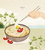 밥, 보양식, 여름, 사람손 (주요신체부분), 전통음식, 콩국수