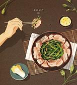 밥, 보양식, 여름, 사람손 (주요신체부분), 전통음식, 오리고기