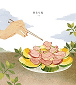 밥, 보양식, 여름, 사람손 (주요신체부분), 전통음식, 단호박, 단호박찜