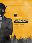 그래픽이미지, 레이아웃, 카피스페이스 (콤퍼지션), 환경보호 (환경), 공해 (환경오염), 대기오염 (공해), 먼지, 초미세먼지, 기침, 산소마스크 (산소호흡기), 방독면, 맑은하늘 (하늘)