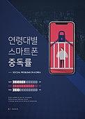 카드뉴스, 사회이슈 (주제), 스마트폰, 중독, 스몸비 (컨셉)