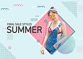 그래픽이미지, 이벤트페이지, 상업이벤트 (사건), 여성, 여름, 휴가 (주제), 비치웨어 (옷), 비키니, 휴가