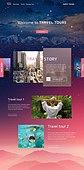 웹템플릿, 홈페이지, 메인페이지 (이미지), 여행, 휴가 (주제), 여성, 배낭여행자 (여행하기)