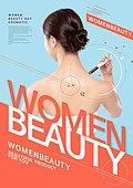 그래픽이미지, 포스터, 전단지, 타이포그래피 (문자), 여성, 뷰티, 스킨케어 (뷰티), 의료성형뷰티 (주제), 다이어트 (체형관리)