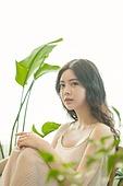 뷰티, 성인여자 (여성), 여성, 식물, 의료성형뷰티 (주제)
