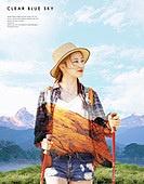 그래픽이미지 (Computer Graphics), 포스터, 휴가 (주제), 휴식, 하이킹 (아웃도어), 풍경 (컨셉), 여성, 휴가