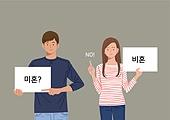 사람, 저출생 (컨셉), 사회이슈 (주제), 싱글라이프 (주제), 비혼