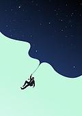 비즈니스, 비즈니스맨, 카피스페이스 (콤퍼지션), 하늘, 밤 (시간대)
