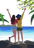 휴가 (주제), 한달살기, 휴양 (컨셉), 해외 (지리적인장소), 라이프스타일, 친구, 여행, 바다