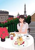 휴가 (주제), 한달살기, 휴양 (컨셉), 해외 (지리적인장소), 라이프스타일, 여성 (성별), 싱글라이프 (주제), 여행, 프랑스 (중부유럽), 에펠탑 (파리), 에펠탑, 브런치 (식사)