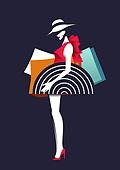 쇼핑 (상업활동), 상업이벤트 (사건), 여성 (성별), 뷰티, 평면 (물체묘사), 컬러풀, 싱글라이프 (주제), 쇼핑백