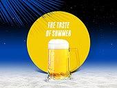 여름, 차가운음료 (무알콜음료), 원형 (이차원모양), 프레임, 맥주