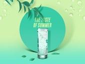 여름, 차가운음료 (무알콜음료), 원형 (이차원모양), 프레임, 소다 (차가운음료)