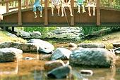 한국인, 어린이 (인간의나이), 계곡, 여름방학, 여름, 낚시 (아웃도어)