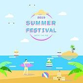 일러스트, 팝업, 상업이벤트 (사건), 계절 (Setting), 여름, 휴가 (주제), 휴가, 세일 (사건)