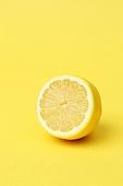 레몬,과일,건강식,한개,크로스섹션