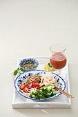 면 (갈아서만든음식), 요리 (음식상태),음식,국수,접시,젓가락,분짜