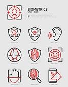 아이콘, 라인아이콘, 4차산업혁명 (산업혁명), 생명공학 (생물학), 생체의학일러스트 (일러스트), 생체인식 (보안장치), 지문, 지문인식, 보안 (컨셉), 사물인터넷 (인터넷), 인공지능