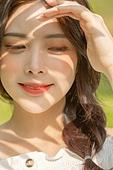햇빛 (빛효과), 뷰티, 여름, 뜨거움 (컨셉), 그림자, 미소