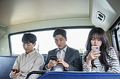 버스, 교통, 버스 (육상교통수단), 예절 (컨셉), 스마트폰, 스몸비, 무관심