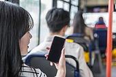 버스, 교통, 버스 (육상교통수단), 예절 (컨셉), 스마트폰, 출퇴근