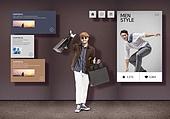 그래픽이미지, 모바일쇼핑, 모바일결제 (금융아이템), 상업이벤트 (사건), 세일 (사건), 쇼핑 (상업활동), 남성, 패션