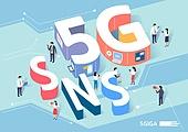 4차산업혁명 (산업혁명), 4차산업혁명, 신기술, 5G, 타이포그래피 (문자), SNS (기술), 커뮤니케이션 (주제)