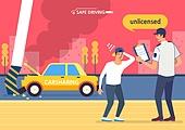 운전, 예절 (컨셉), 소년범죄 (범죄), 무면허, 카셰어링 (공유), 교통사고