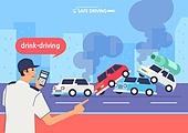 운전, 예절 (컨셉), 음주운전, 교통사고, 도로, 자동차