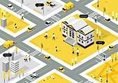 스마트시티, 5G, 사물인터넷, 4차산업혁명 (산업혁명), 도시, 신기술, 통제 (컨셉), 건물외관 (건설물), 라이프스타일