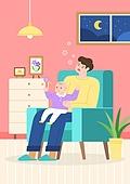 육아, 육아대디 (아빠), 남편, 남성 (성별), 아기 (인간의나이), 육아휴직