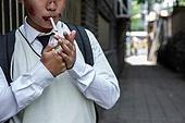 십대 (인간의나이), 흡연 (주제), 골목길 (도시도로)