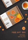 음식, 포장 (인조물건), 농작물 (식물), 귤 (감귤류), 상자