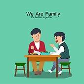 밥, 식사, 가족, 식탁, 라이프스타일