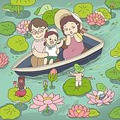 동화, 연꽃, 연꽃축제, 전통축제 (홀리데이), 꽃, 연잎, 가족