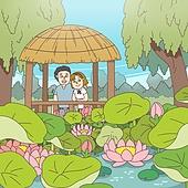 동화, 연꽃, 연꽃축제, 전통축제 (홀리데이), 꽃, 연잎