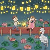 동화, 연꽃, 연꽃축제, 전통축제 (홀리데이), 꽃, 연잎, 연등