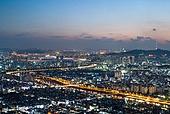 서울 (대한민국), 한국 (동아시아), 도시풍경 (도시), 도시, 밤 (시간대), 야경