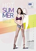 그래픽이미지, 이벤트페이지, 상업이벤트 (사건), 패턴, 여름, 휴가 (주제), 여성, 비키니, 바디라인 (날씬함), 쇼핑 (상업활동)