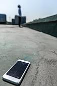 고등학생, 걱정 (어두운표정), 스트레스, 절망 (슬픔), 스마트폰, 깨짐 (고장)