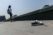 고등학생, 걱정 (어두운표정), 스트레스, 절망 (슬픔), 신발, 벗기