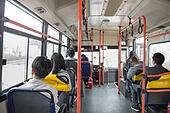 버스, 실내, 교통수단좌석 (교통수단일부), 앉기 (몸의 자세), 출퇴근, 아침
