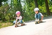 한국인, 어린이 (인간의나이), 스케이트보드, 스케이트보딩, 타기, 여름방학, 방학